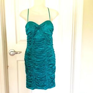Iz Byer California turquoise dress, 9